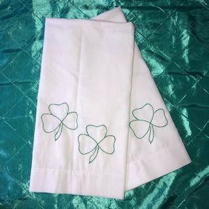 Brand New Handmade Shamrock Standard Pillowcases